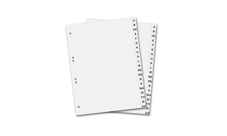 Kunststoffregister DIN A4 A-Z (1001338)
