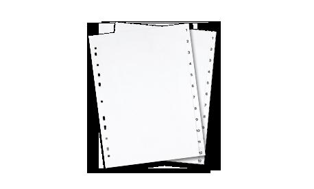Kunststoffregister DIN A4 1-12 (1001337)