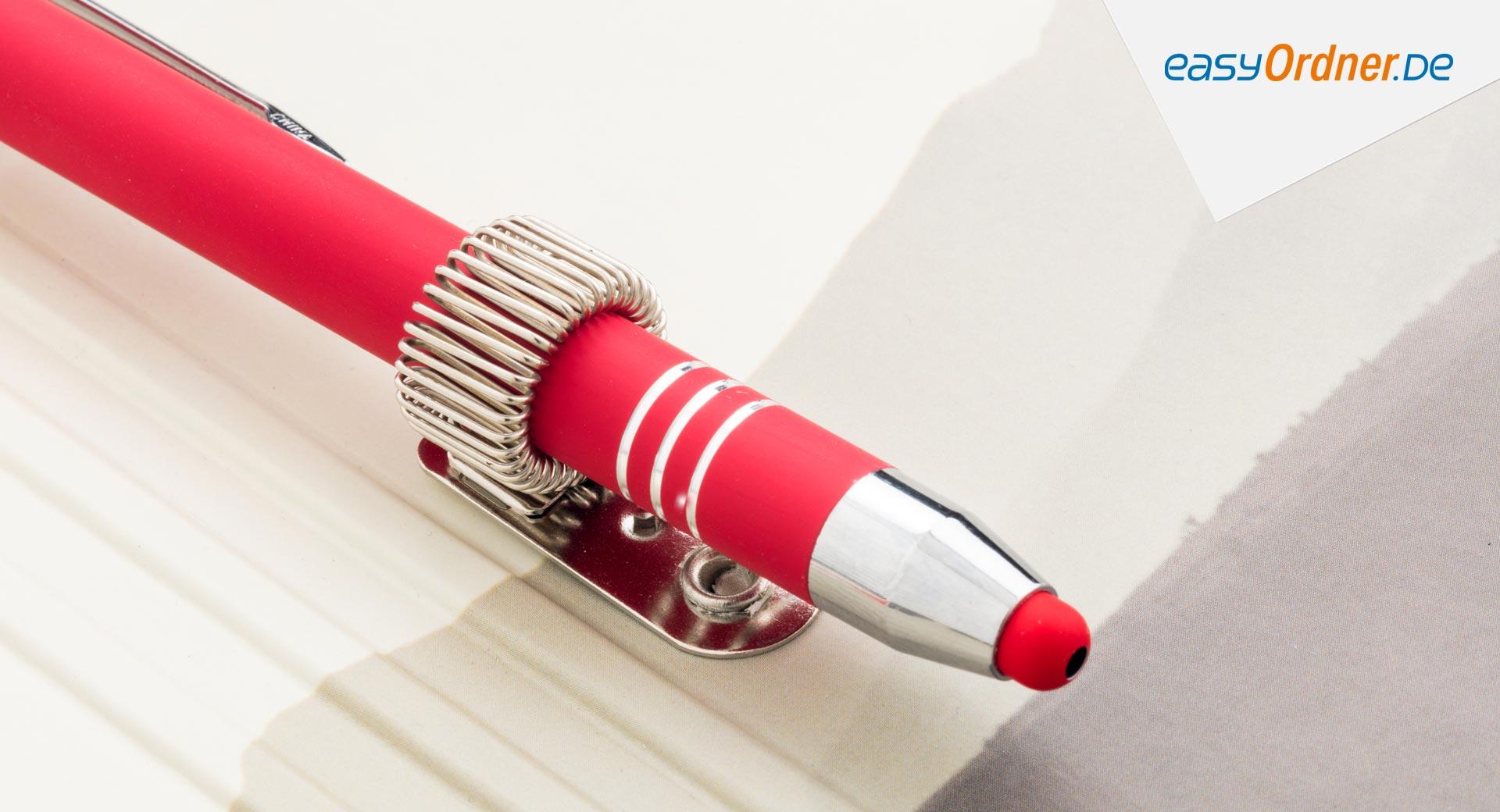 Stifthalter für Klemmbretter und Schreibmappen (Klemmbrett faltbar)